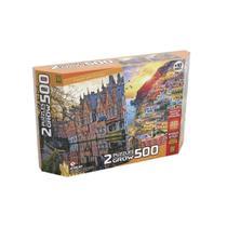 Puzzle 500 peças Duplo - Passeio pela Europa - Grow -
