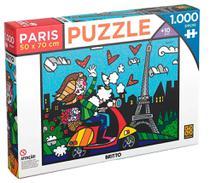Puzzle Quebra Cabeça Romero Britto Paris 1000 Peças Grow -