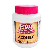 PVA Tinta Fosca Artesanato Branco 519 Acrilex 250ml -