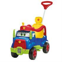 Quadriciclo De Passeio Infantil Calesita Mk Truck Com Pedal Azul -