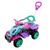 Quadriciclo Infantil com Empurrador - Meninas - Maral -