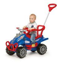 Quadriciclo Infantil - Passeio e Pedal - Cross Turbo - Calesita -  AZUL -