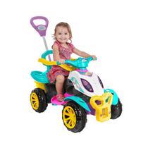 Quadriciclo Infantil Passeio E Pedal Menina Empurrador - Maral Brinquedos