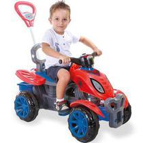 Quadriciclo passeio pedal grande empurrador spider - Maral Brinquedos