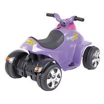 Quadriciclo Quadrijet Elétrico Infantil Homeplay 6V Lilás E Rosa -