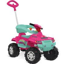Quadriciclo Superquad Passeio e Pedal Rosa - Brinquedos Bandeirante