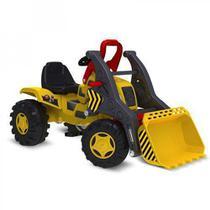 Quadriciclo Trator Escavadeira Infantil com Pedal Brinquedos Bandeirante Amarelo 409 - Bandeirantes