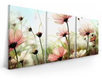Quadro 20 x 30 tamanho cada  peça Flores De Campo Mosaico Para Sala Mosaico - Quadros