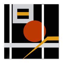 Quadro Abstrato Bola Uniart Preto & Vermelho 45x45cm -
