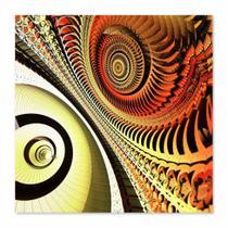 Quadro Abstrato Caracol Uniart Marrom 45x45cm -