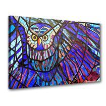 Quadro Abstrato Coruja Mosaica De Parede - Podium
