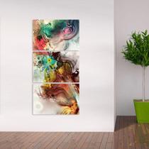 Quadro Abstrato Decorativo Mosaico 3 Peças Vertical - Neyrad