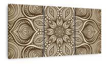 Quadro Abstrato Mandala Artístiso Mosaico Em Tecido 3 Peças - Neyrad