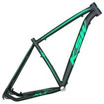 Quadro Aro 29 Mtb Alumínio Ksw Xlt 15/17/19/21 Preto Fosco Adesivo Verde Neon -