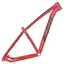 Quadro Aro 29 Mtb Alumínio Ksw Xlt 17 Vermelho Fosco Adesivo Preto -