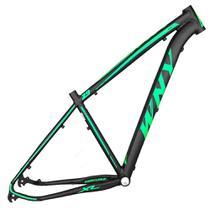 Quadro Aro 29 Mtb Alumínio Wny XL 17/19 Preto Fosco Adesivo Verde Neon - Wendy