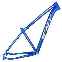Quadro Aro 29 Mtb Alumínio Wny XL 17 Azul Escuro Fosco Adesivo Prata/Preto - Wendy