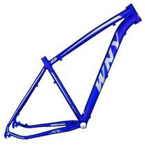 Quadro Aro 29 Mtb Alumínio Wny XL 19 Azul Escuro Fosco Adesivo Prata - Wendy