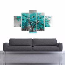Quadro Arvore Azul Turquesa Decorativo - Geral