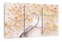 Quadro Árvore Flores Cerejeira Tons De Amarelo E Laranja - Wall Frame