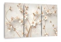 Quadro Árvore Flores Cerejeiras Brancas Para Sala Quarto - Wall Frame