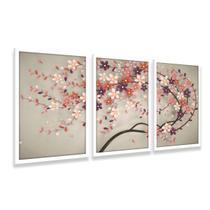 Quadro Árvore Flores Cerejeiras decorativo Para Quarto Sala - Framez