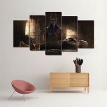 Quadro Assassins Creed Origins com 5 Peças em Canvas - 110x65cm - Alameda Geek