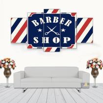 Quadro Babearia Shop 5 Peças Mosaico Mdf6mm - Neyrad
