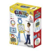 Quadro branco magnetico e lousa infantil com cavalete pedestal kit didatico de pintura e desenho edu - Gimp