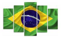 Quadro Brasil Patriota Escritório Decorativo Bandeira Sala - Neyrad