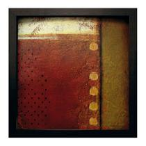 Quadro Caixa Abstrato II Preto 33X33 cm Kapos -
