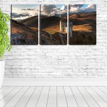 Quadro canvas 30x66 mosteiro ao pé da montanha - Crie Life