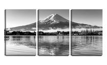 Quadro canvas 55x110 casas ao pé do monte fuji - Crie Life