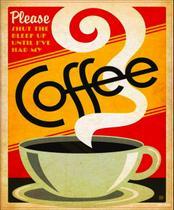 Quadro cartão papel mdf - café (sortidos) - Brasfoot