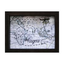 Quadro Cofre Map Betume 13x18cm - Kapos
