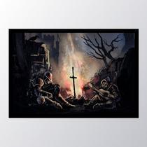 Quadro com moldura dark souls 4 - Conspecto