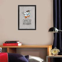Quadro com Moldura - Expresso Patronum 42 x 30 cm - Fabrica Geek