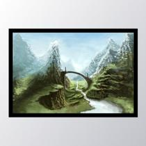 Quadro com moldura skyrim nature art - Conspecto