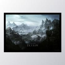 Quadro com moldura skyrim world rocks - Conspecto