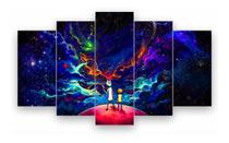 Quadro conjunto Mosaico Decoração 5 Peças Psicodélico Rick And Morty - Neyrad