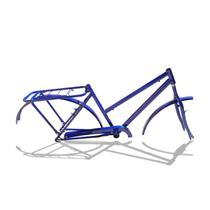 Quadro De Bicicleta Modelo Poti Aro 26 + Garfo - Azul - Wendy