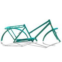 Quadro De Bicicleta Modelo Poti Aro 26 + Garfo Verde - Wendy