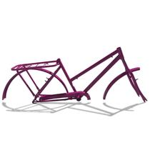 Quadro De Bicicleta Modelo Poti Aro 26 + Garfo Violeta - Wendy