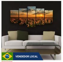 Quadro de decorativo mosaico girassol - Collor Graf Distribuidora