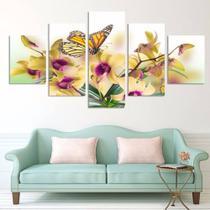 Quadro de decorativo mosaico orquídea - Collor Graf Distribuidora