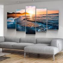 Quadro de decorativo mosaico praia por do Ceu - Collor Graf Distribuidora