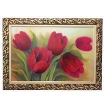 Quadro de parede com moldura 60x90 tulipa - benfica -