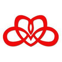 Quadro De Parede Coração Abstrato Em Mdf Laminado Vermelho - Decoramix
