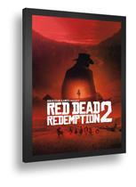 Quadro Decor Poster Red Dead Redemption Jogo Zumbi Com Vidro - Quadros A+