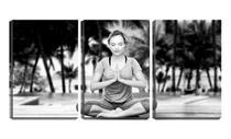 Quadro Decorativo 30x66 relaxamento de ioga - Crie Life